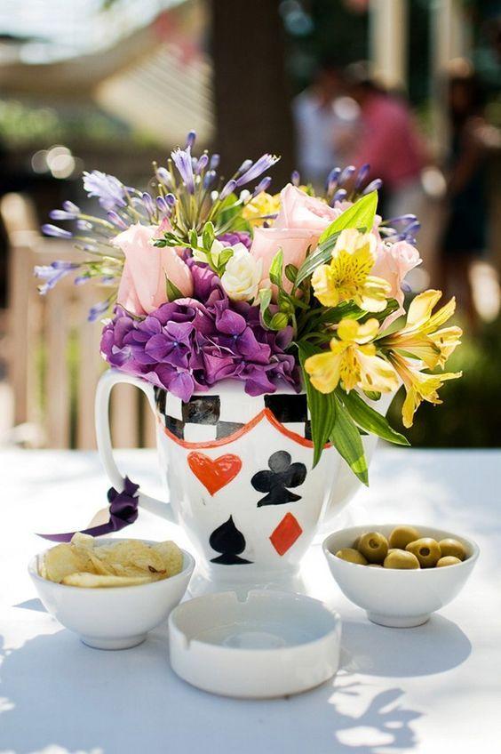Ideas para centros de mesa de xv a os centros de mesa for Decoracion xv anos alicia pais maravillas