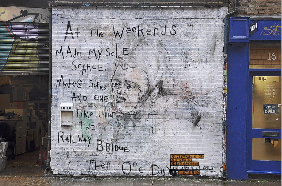 Heartbreaking Murals Tell True Stories Of Homeless Youth Graffiti Artist Street Artists Street Art