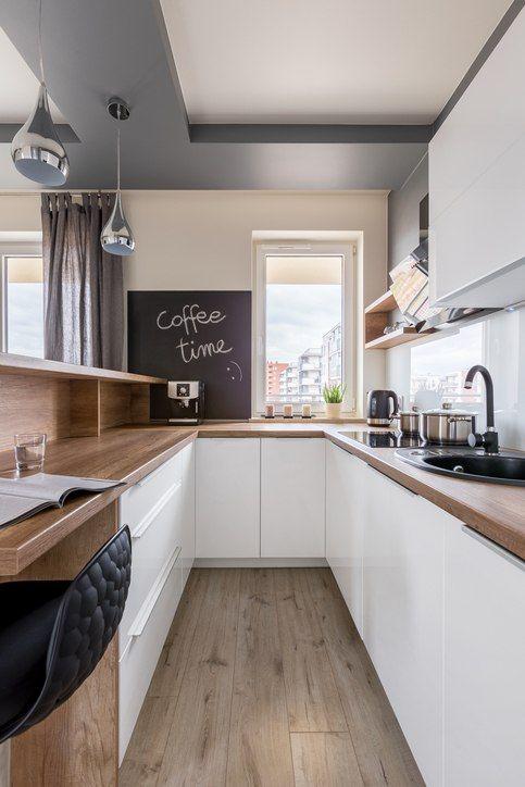 Cocinas Pequenas 2019 Blancas Cocina En Forma De U Fotos De Cocinas Pequenas Diseno Muebles De Cocina