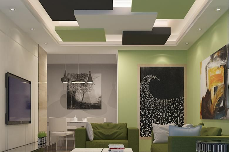 Living Room False Ceiling Gypsum Board Drywall Plaster