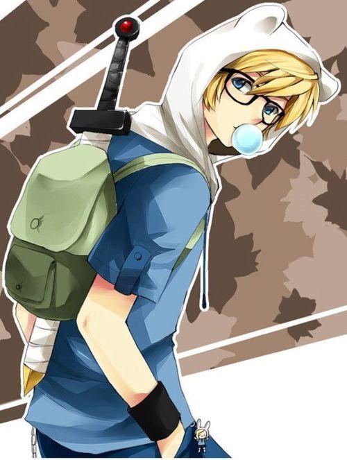 anime version of finn we re anime adventure time anime