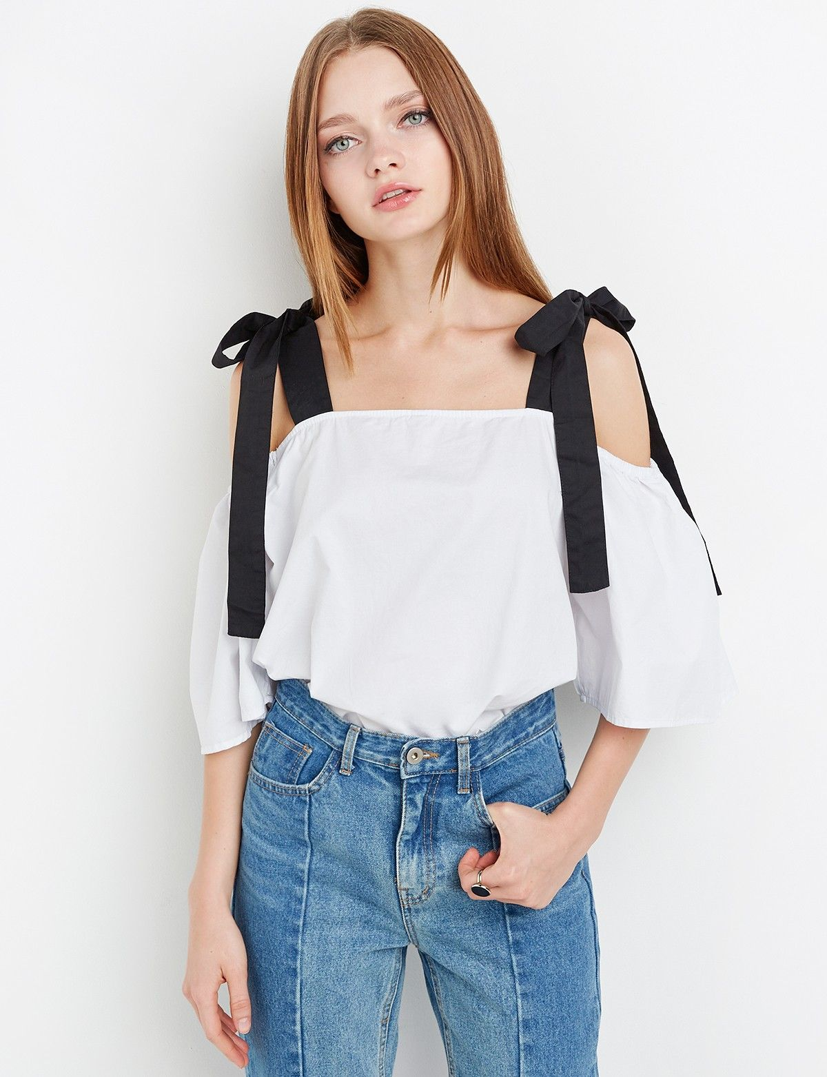 8ed5f96adbc Black Strap Off the Shoulder Top $44.00 | What I Want in 2019 ...