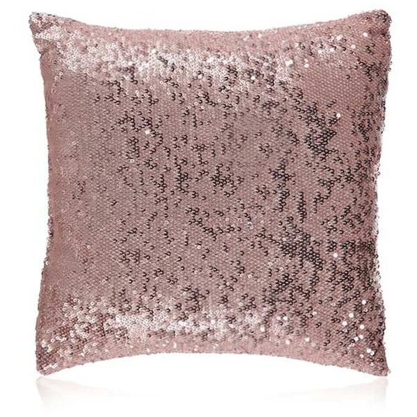 Forever40 Sequin Decorative Pillow 40 Liked On Polyvore Enchanting Rose Gold Decorative Pillows