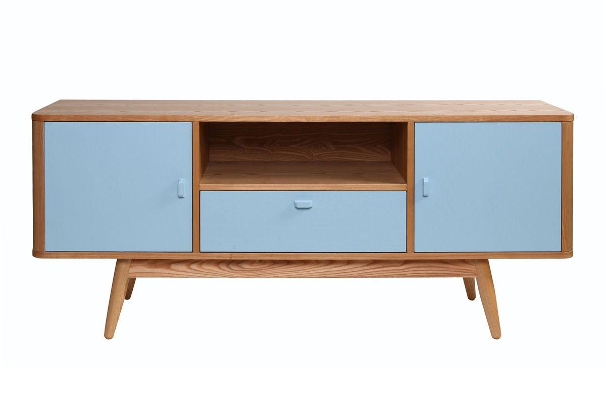 Meuble Tv Design Frene Teinte Bleu Baltik Miliboo Meuble Tv Design Teinte De Bleu Mobilier De Salon