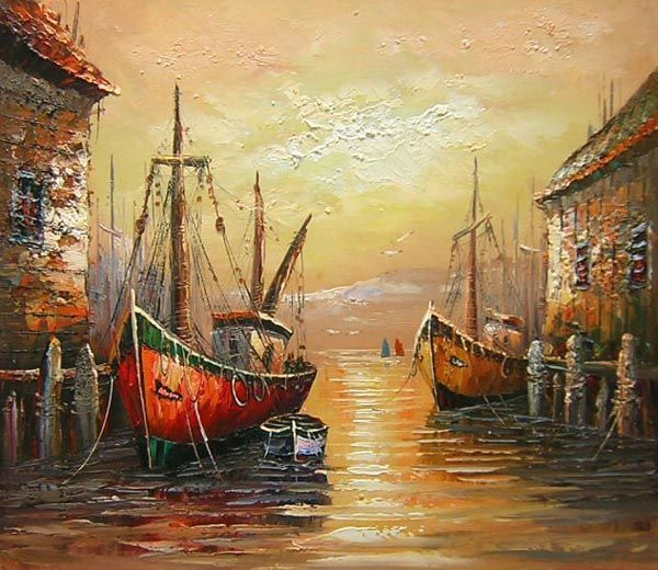 Nautical Oil Painting - Wall art finished in the USA. Dimensions (H ...