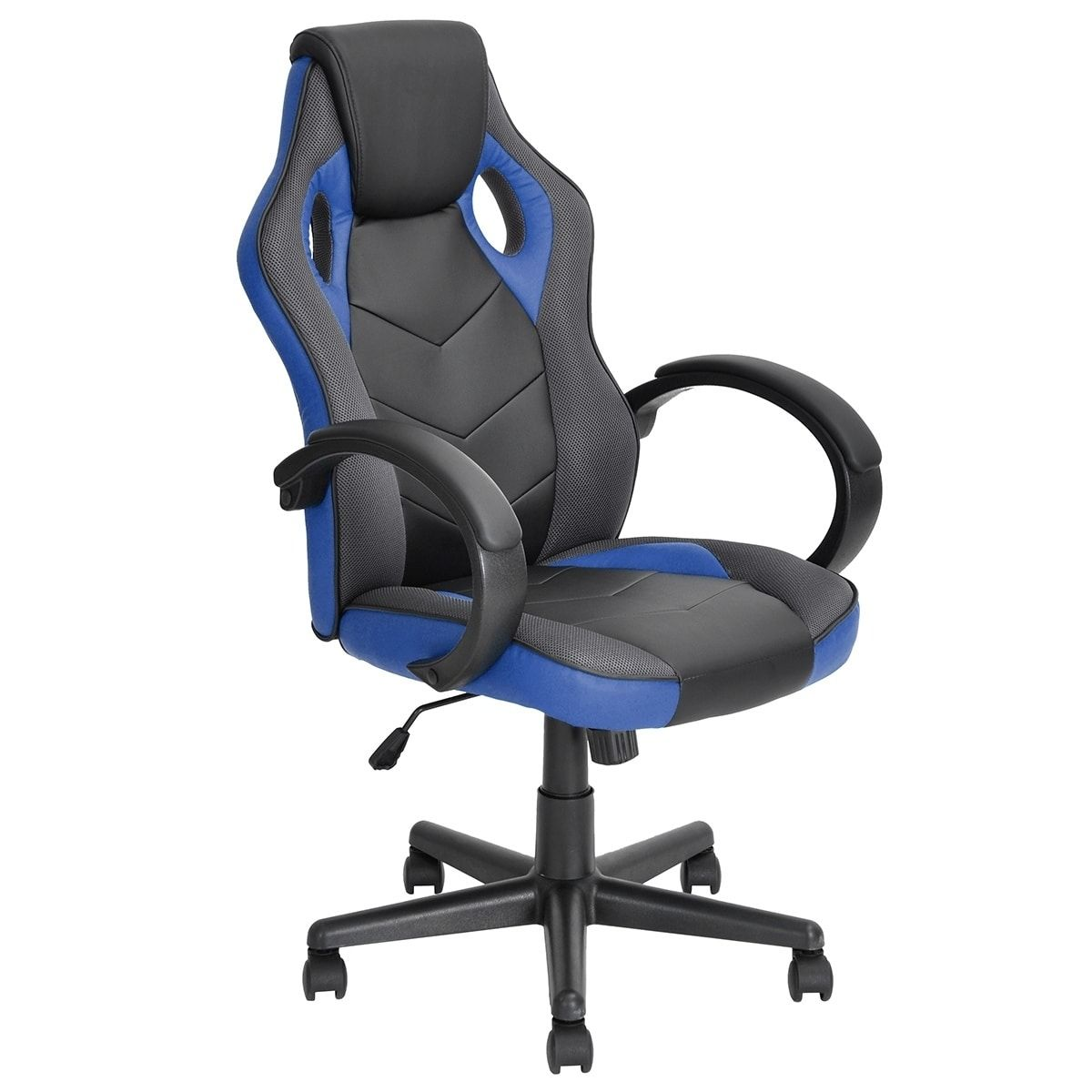 Furniture R Ergonomic Home Office Racing Gaming Chair Blue In