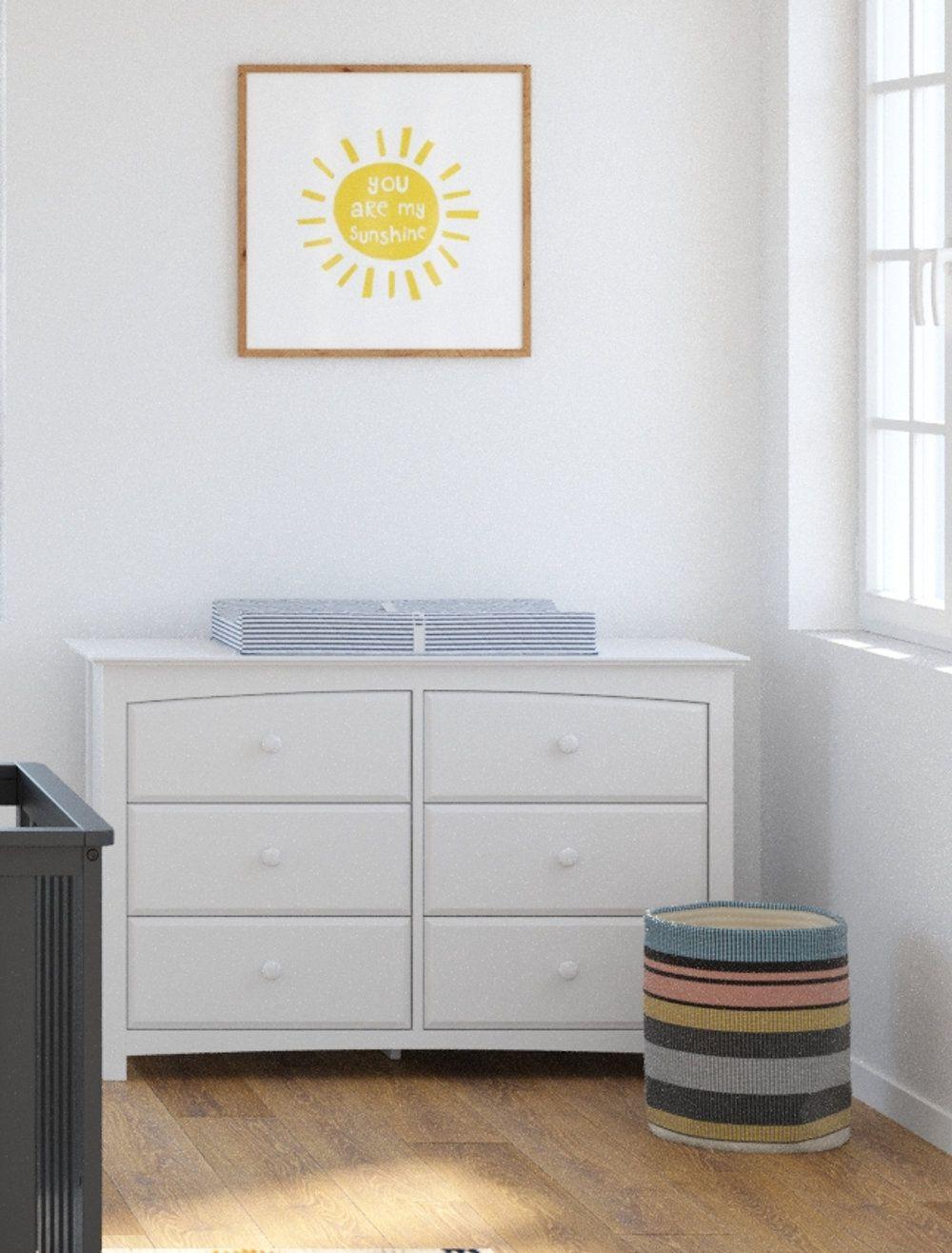 Kenton 6 Drawer Double Dresser Storkcraft Storage Solutions Bedroom Double Dresser [ 1316 x 1000 Pixel ]