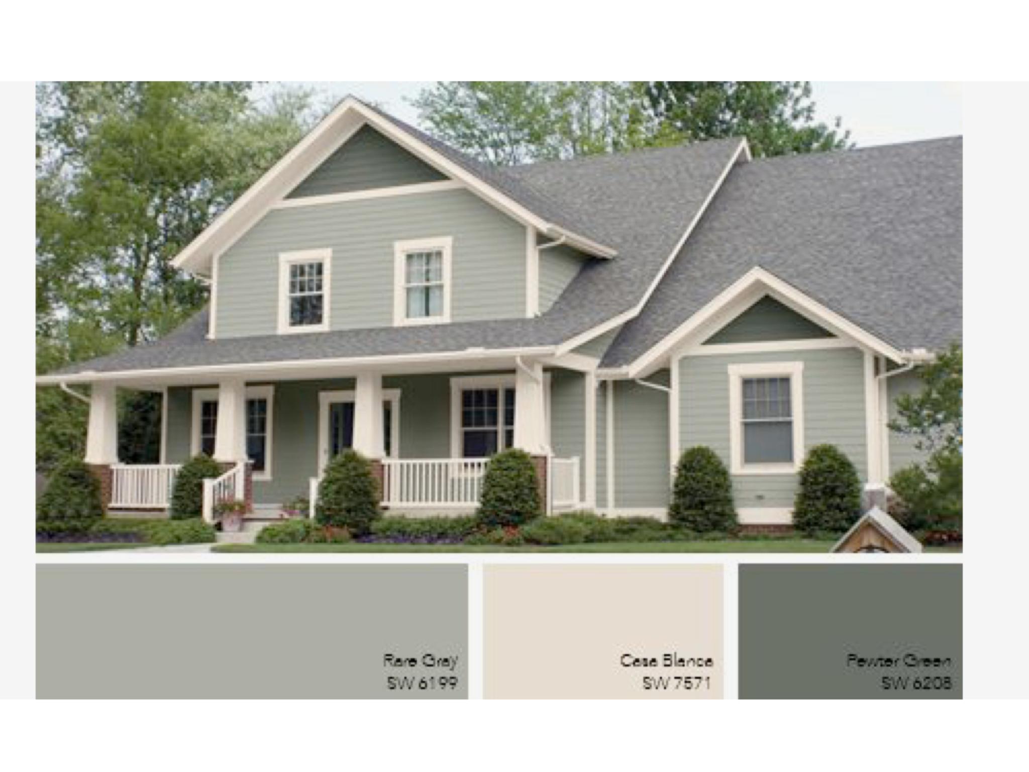 Pin von holly fischer engel auf house ideas exterior - Green exterior house color ideas ...