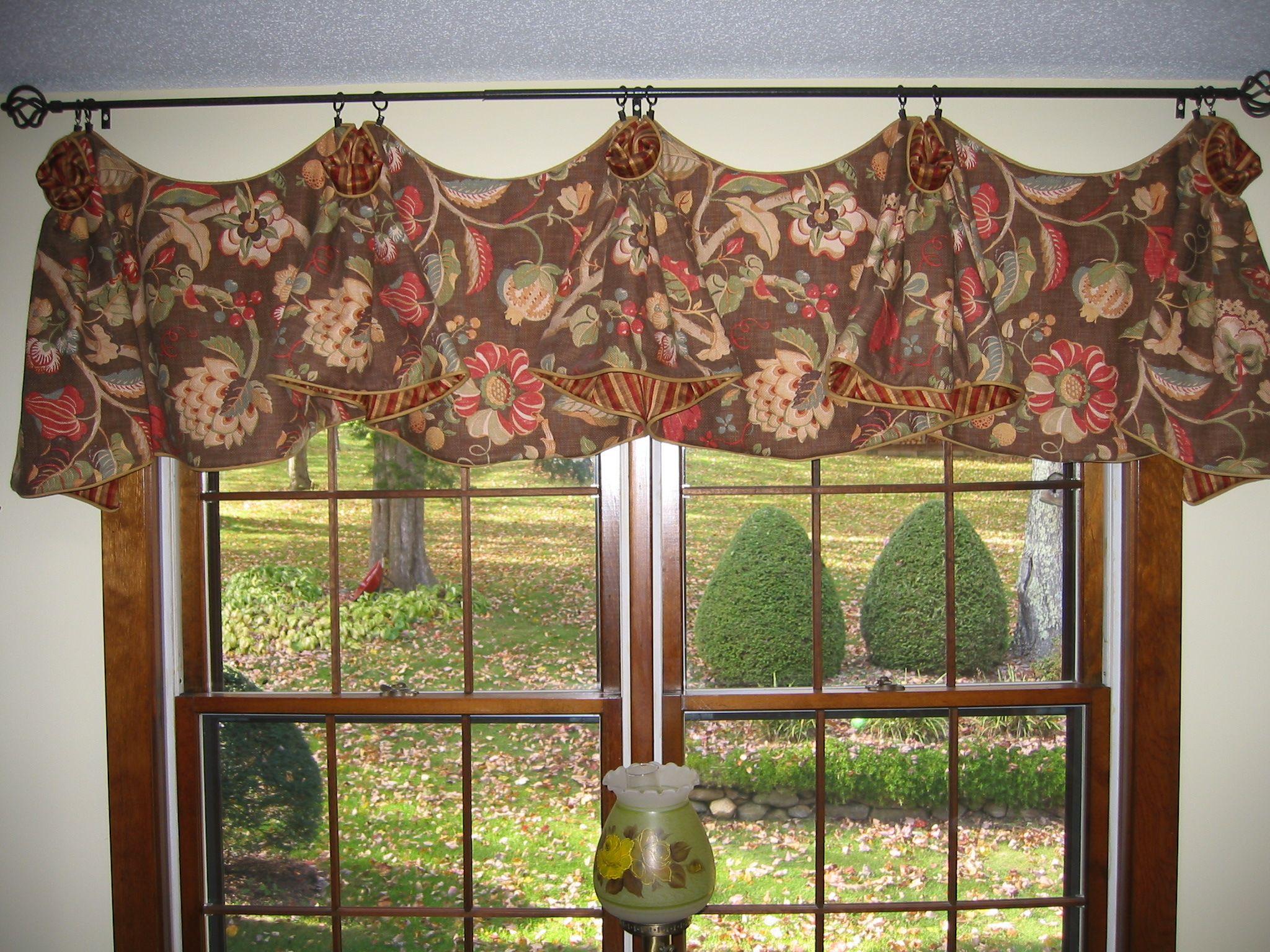 Double window valance | Window Valances /Treatments | Pinterest