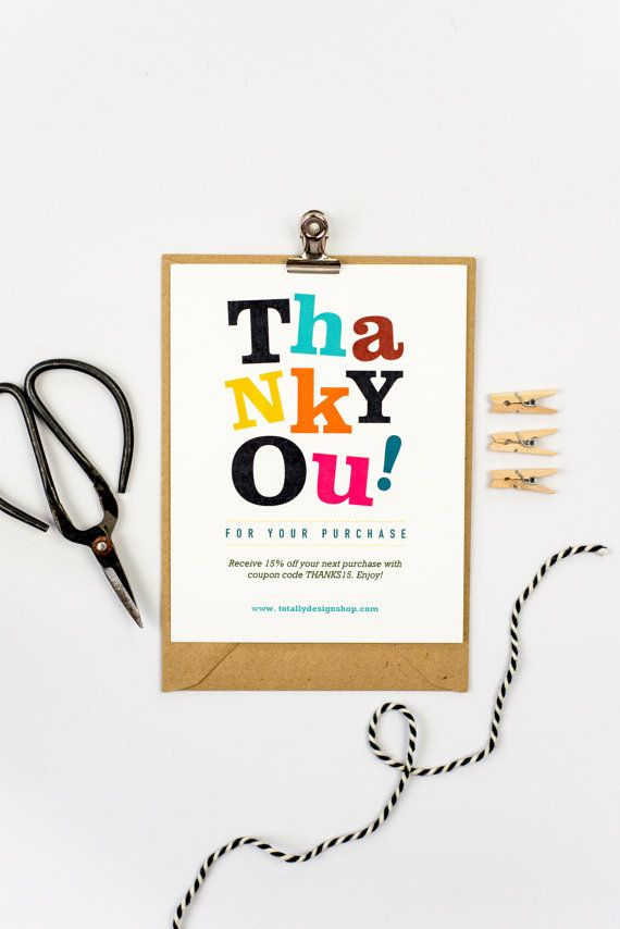 Thank you for your purchase cards instant download cheerfully business thank you cards are quick and affordable to create with this pdf template printer friendly margins and low ink design wajeb Gallery