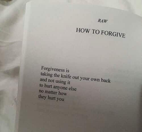 i am choosing to forgive you, but only so i can move on.