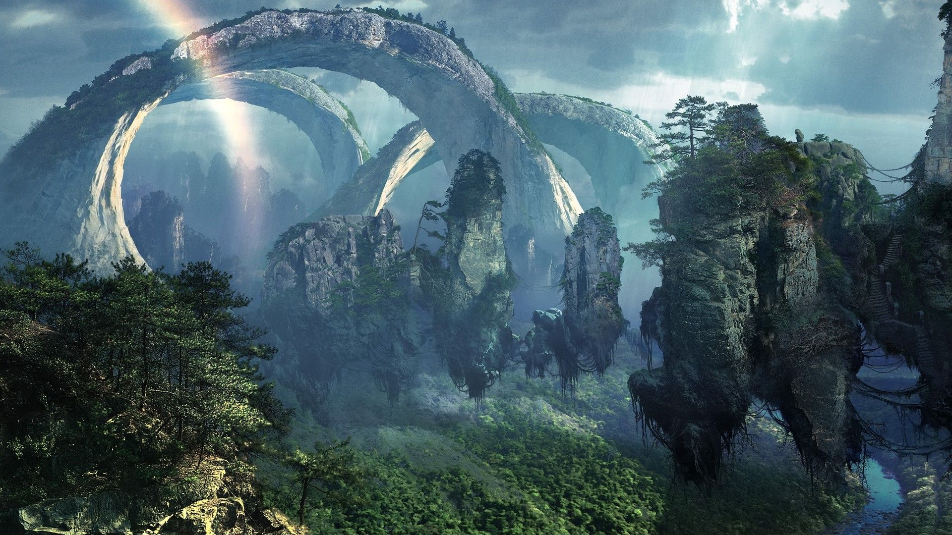 Hd Wallpaper Fantasy Fantasy Landscape Dream Landscape Screen