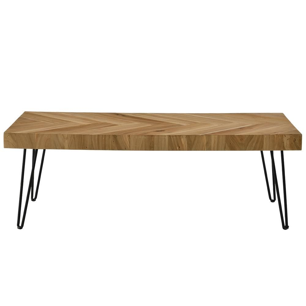Harper Bright Designs 44 In Glossy Oak Large Rectangle Wood Coffee Table Wf190111aal The Home Depot Coffee Table Coffee Table Rectangle Coffee Table Wood [ 1000 x 1000 Pixel ]