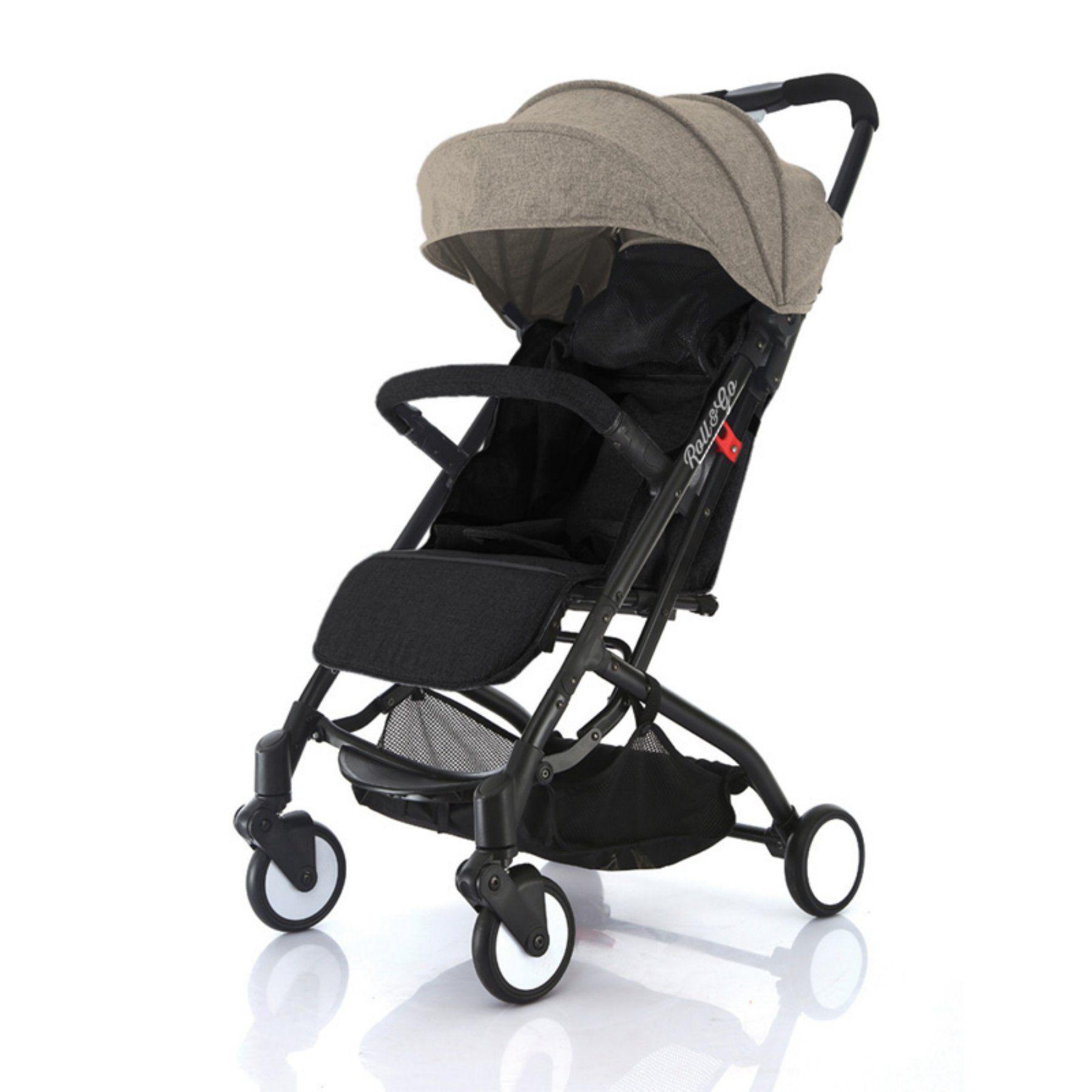 Babyroues Roll & Go Lightweight Stroller Black/Tan