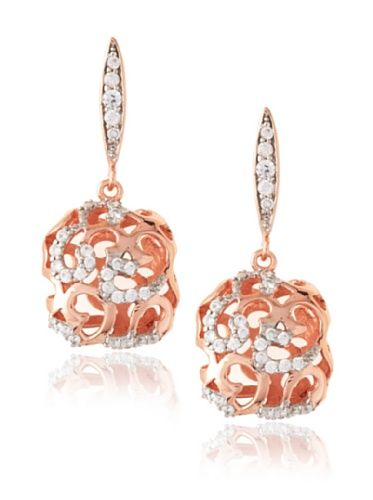Montage Jewelry Designer 14K Rose Gold Plated Crystal Hollow