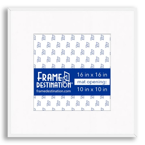 16x16 White Square Frame For 10x10 Frame Destination In 2020 White Square Frame Square Frames Metal Picture Frames