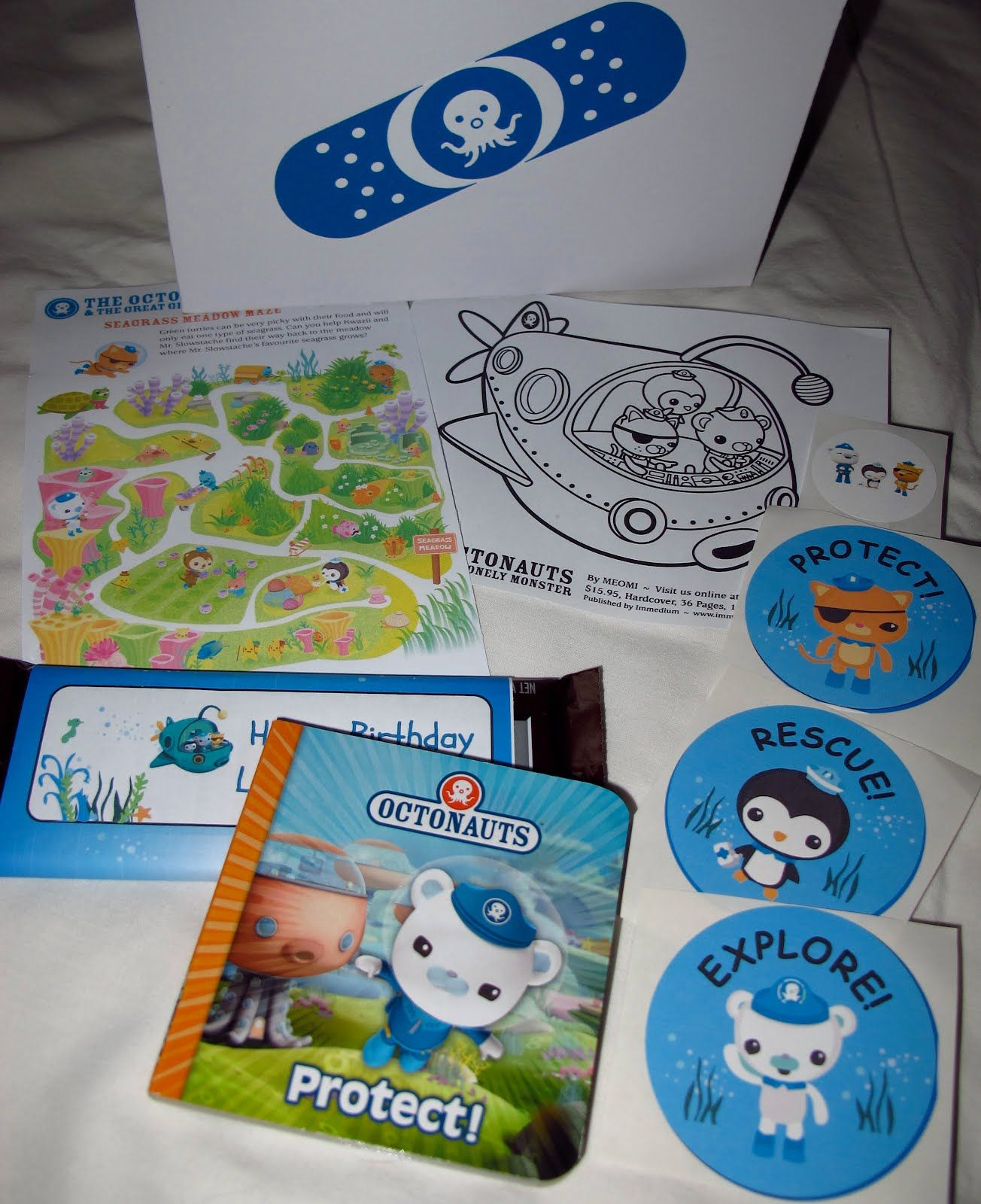 party bag. Binky and the Toy Thief: How I Threw an Octonauts Birthday Party
