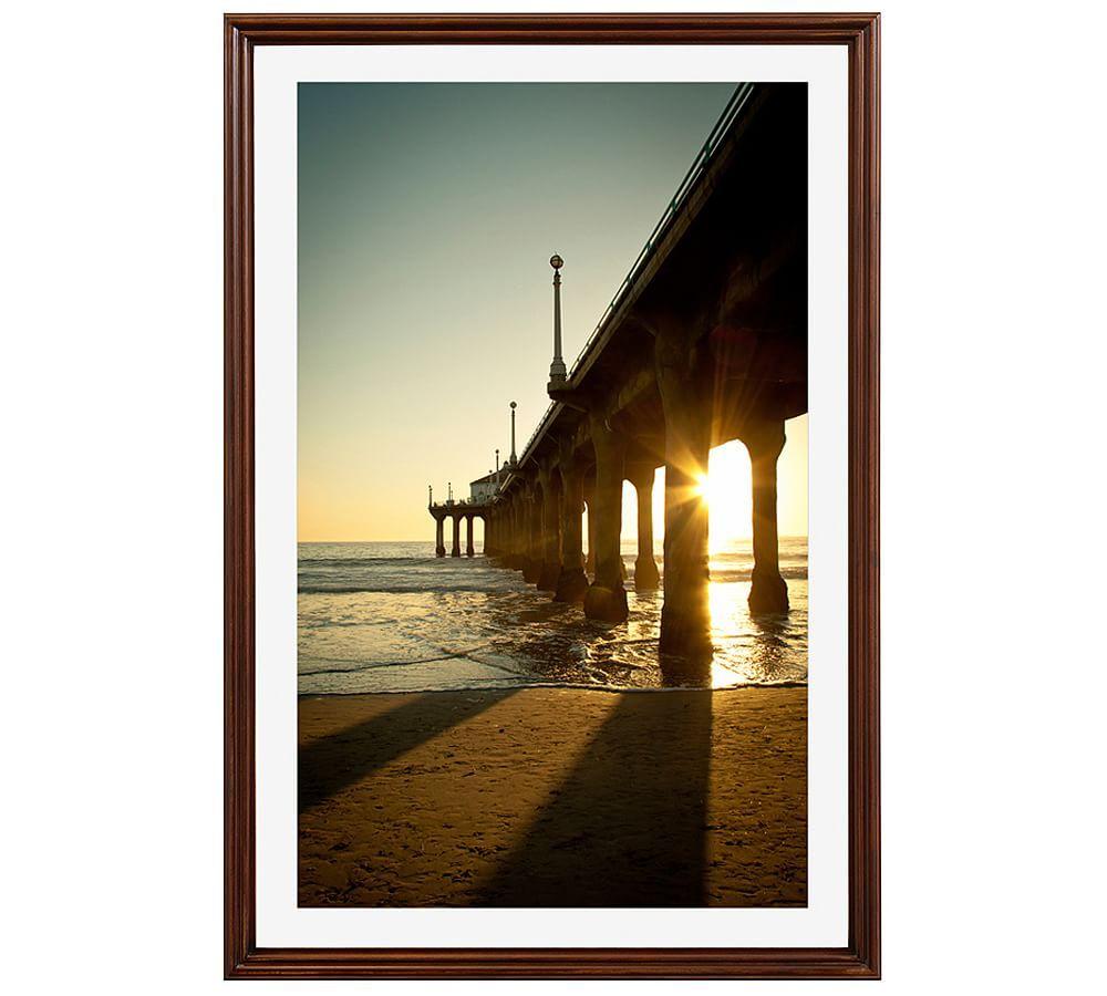 Ocean Pier By Ana V Ramirez 16 X 20 Quot Wood Gallery Black