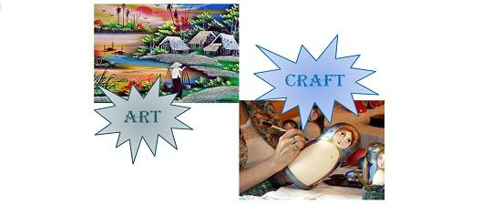 Difference Between Art And Craft Creative Arts Class Pinterest