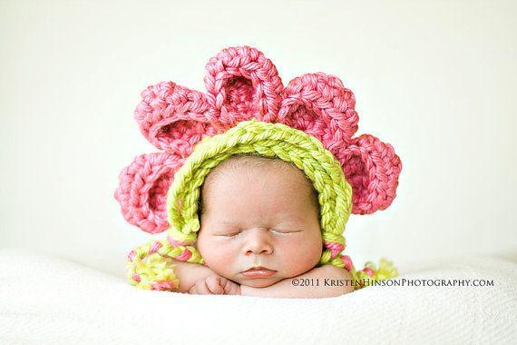 PDF Crochet PATTERN Bonnet with 5 Petals by LittleOwlCreation, $6.50 ...