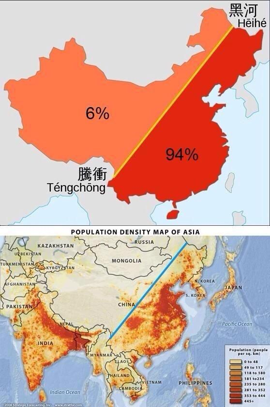 Elordenmundial sxxi on china and geography 94 of china population lives in this area gumiabroncs Images