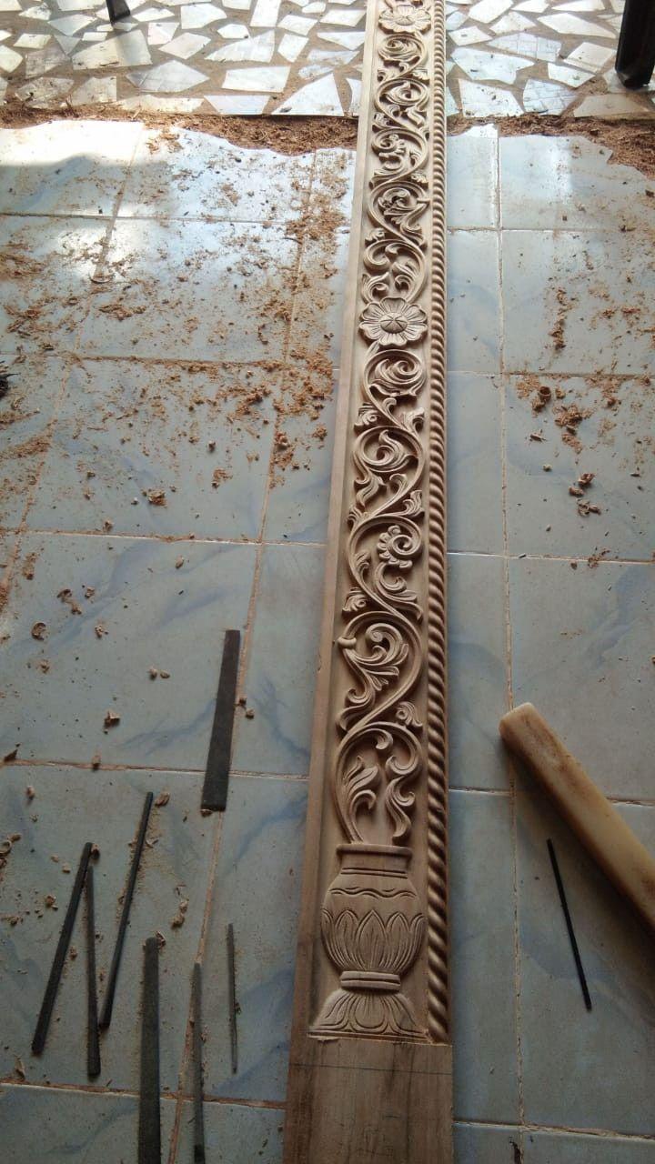 Bavas Wood Works Pooja Room Door Frame And Door Designs: Idea By Vishwakarmaart +918421146457 On Cnc Wood Work