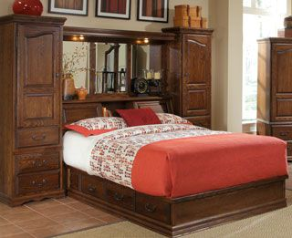 wall unit bedroom set with the blend of and functionality the 17762