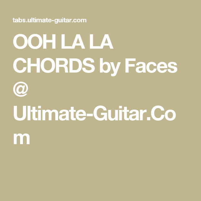 Ooh La La Chords Choice Image - finger placement guitar chord chart