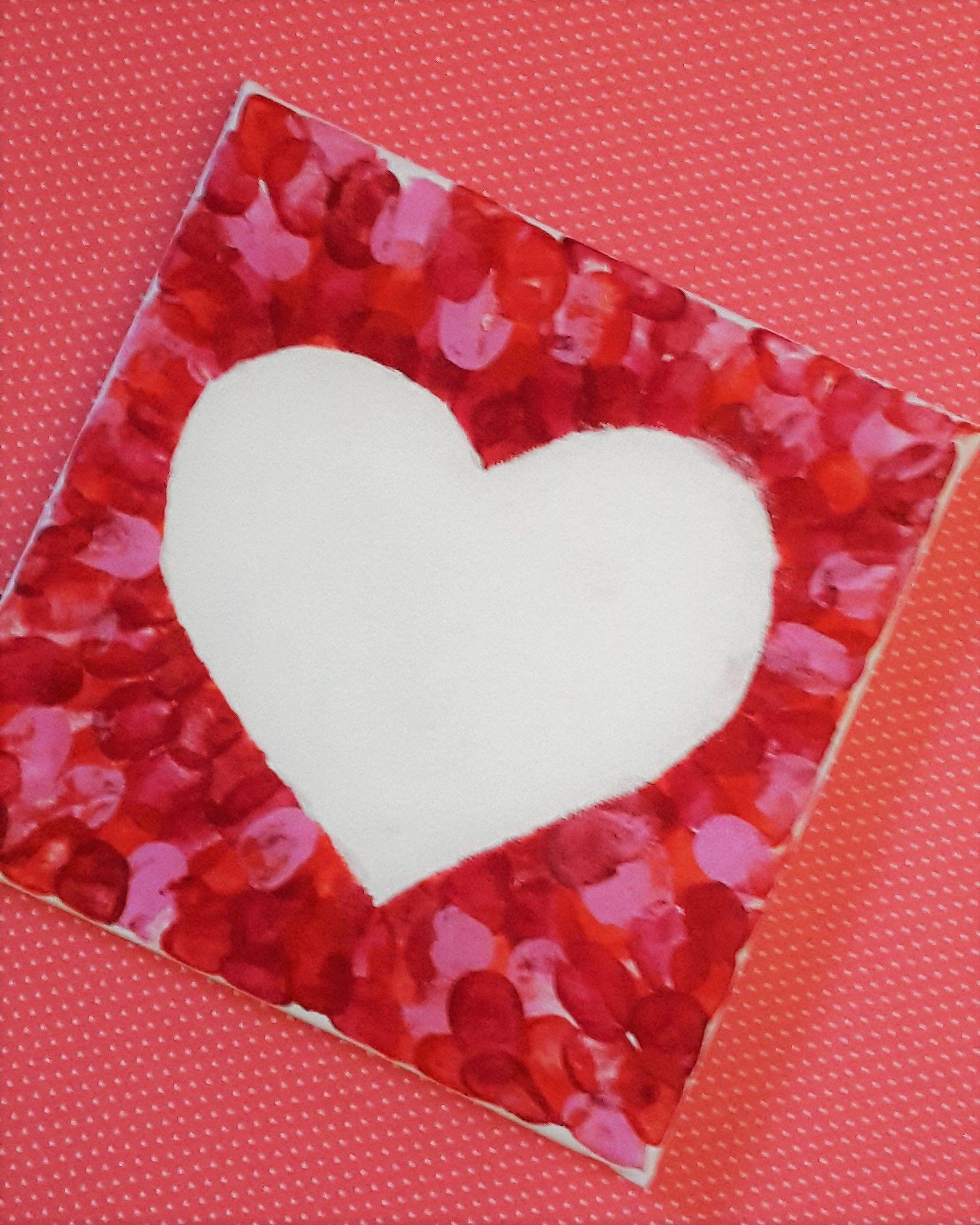 Photo of Süßes Muttertagsgeschenk selber machen. Herz mit Fingerabdrücken #selbstgemachteleinwandkunst