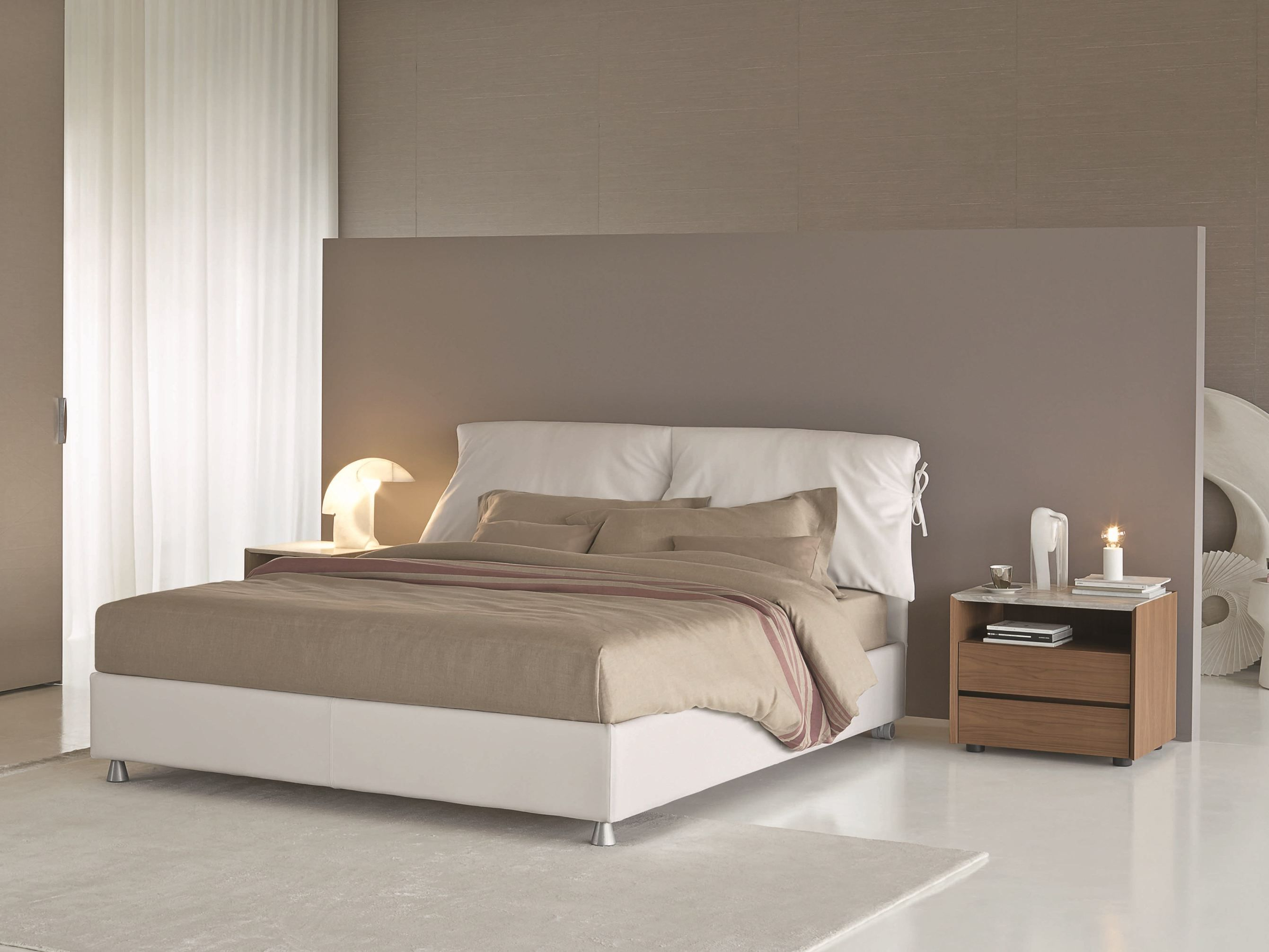 Letto matrimoniale sfoderabile NATHALIE Serie Nathalie by ...