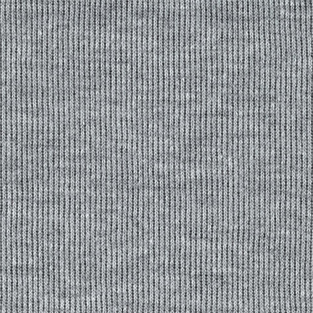ecb7a3890bc Rib Knit Light Heather Grey from @fabricdotcom This very heavyweight rib knit  fabric is perfect for collars, cuffs, waistbands or form fitting apparel.