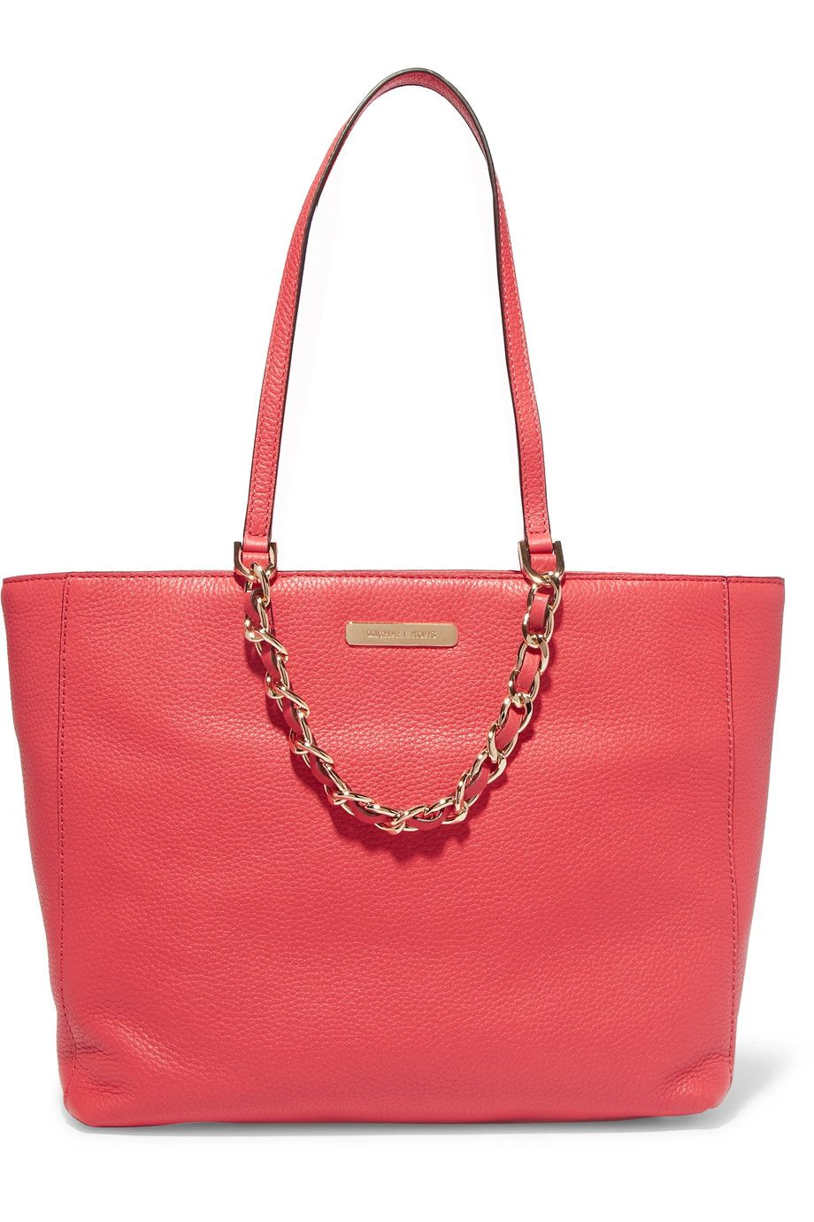 Shop on-sale MICHAEL Michael Kors Chain-embellished textured-leather tote. Browse other discount designer Totes & more on The Most Fashionable Fashion Outlet, THE OUTNET.COM