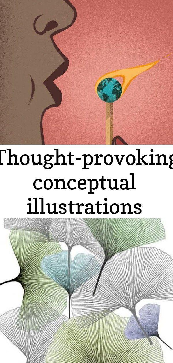 Thoughtprovoking conceptual illustrations Fantastic global warming illustration by Davide Bonazzi Tree pattern illustration flower 40 Super Ideas Soul Illustrates The Wil...