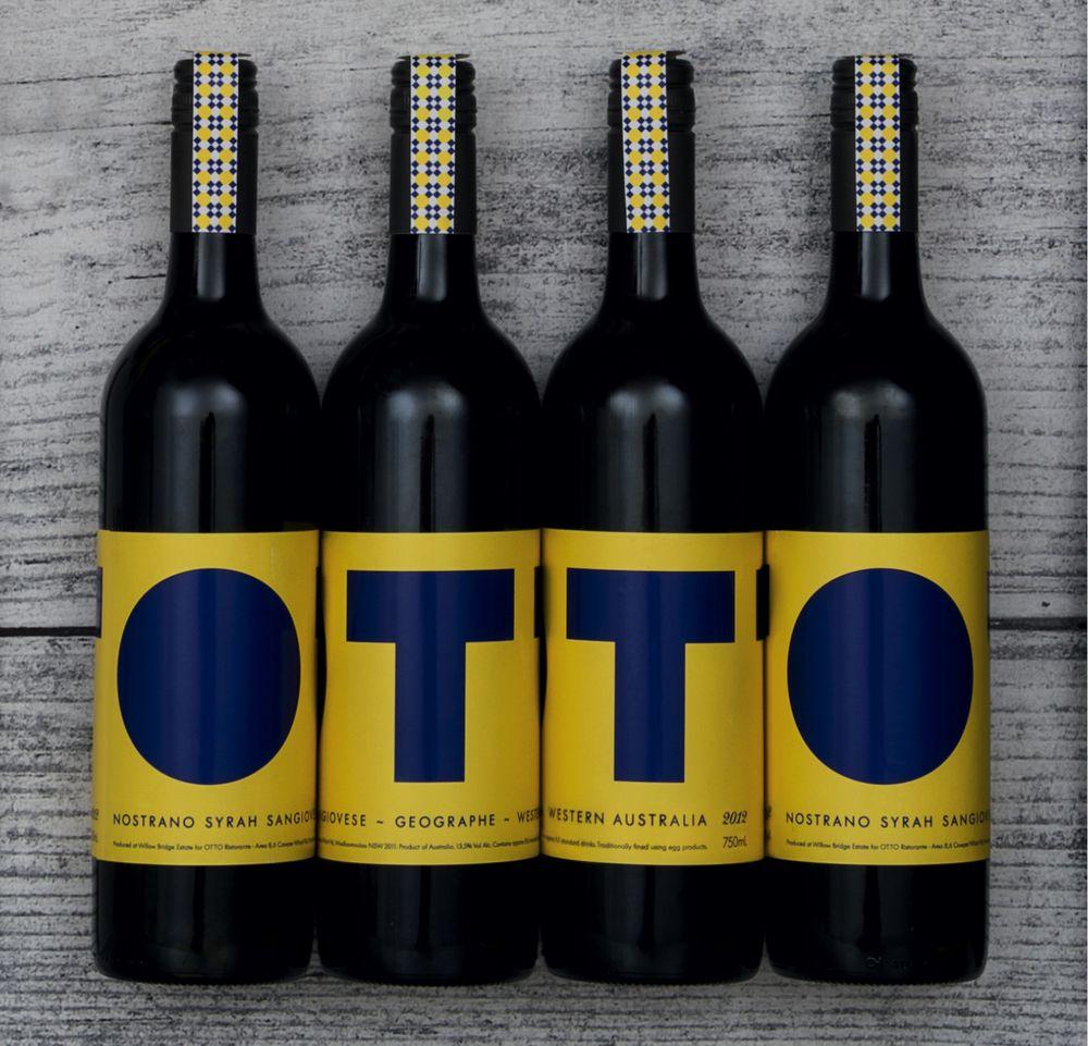 Wine label Design. Otto Ristorante. Fog & Co. | :: Fog & Co ...