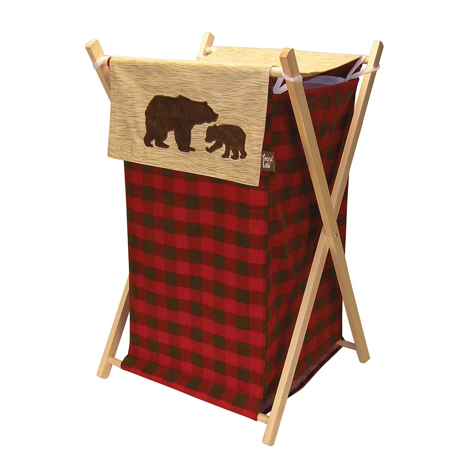 Trend Lab Northwoods Hamper Trend Lab Bear Decor Plaid