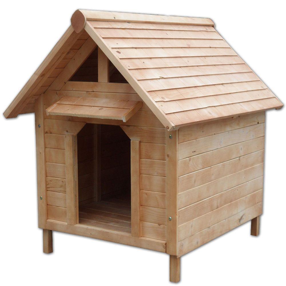 hundehütte wetterfestes hundehaus mit vordach für hunde (103 x 83 x