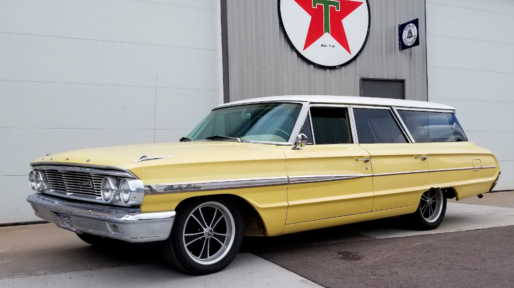1964 Ford Country Sedan Wagon Presented As Lot F93 At Denver Co In 2020 1964 Ford Wagon Sedan