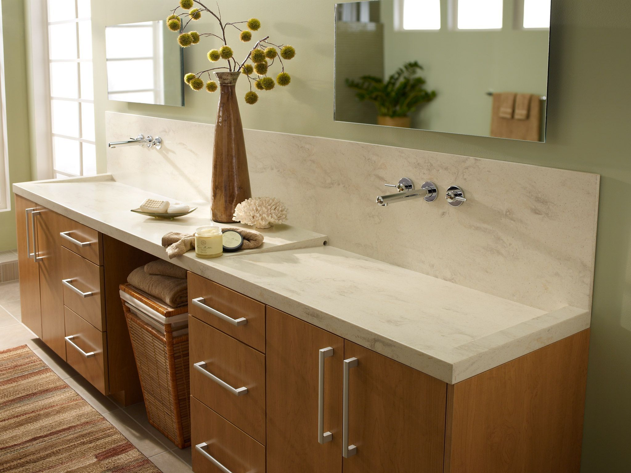 Clam Shell Solid Surface From Corian Design Corian Bathroom Countertops Bathroom Countertops