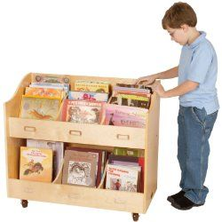 Small Bookcase On Wheels For Children To Keep Their Favorite Books Neatly