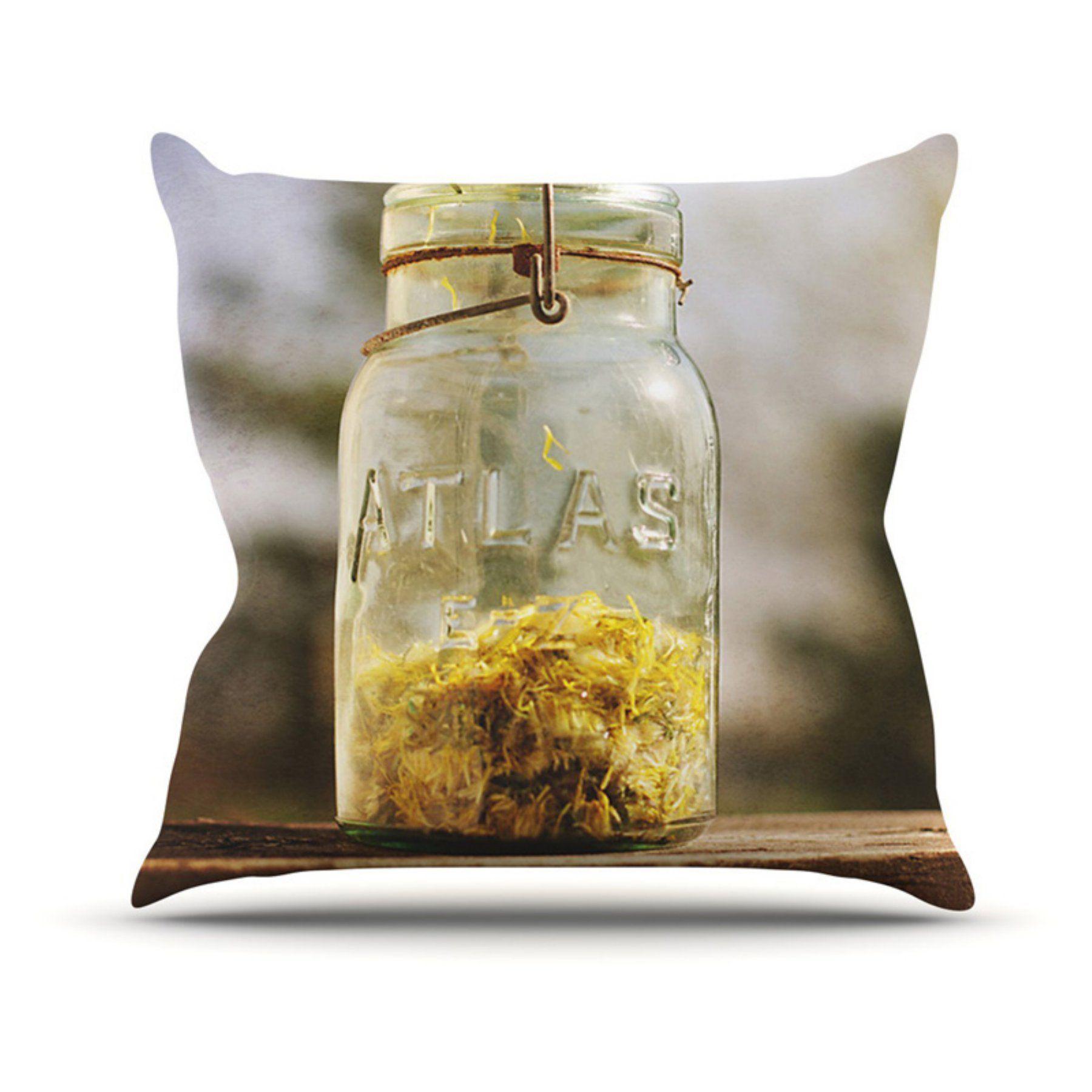 Kess InHouse Angie Turner Jar of Sunshine Country Indoor/Outdoor Throw Pillow - AT1021AOP02