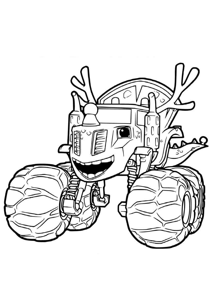 Dinosaur Zeg High Quality Free Coloring From The Category Blaze And The Monster Machines More Printable Pictures On Our Website Babyhouse Info