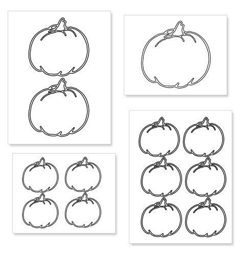 Printable Pumpkin Shape Template from PrintableTreats