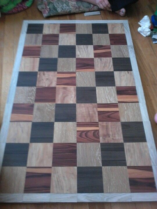 Table Top Made With Flooring Samples From Home Depot We Made It For A Surface On Top Of The Dog Kennel Wood Sample Diy Dog Crate Upcycle Wood