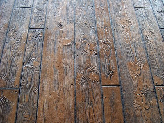 Wood Stamp Concrete Is A Great Option To Bring That Rustic