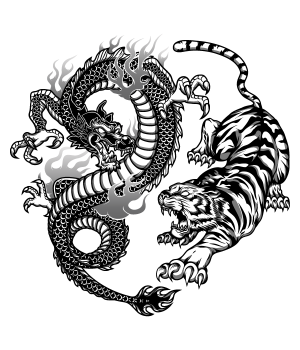 0ccf2b7f19e412acbda0bdb5cd358c6c Png 600 700 Dragon Tiger Tattoo Tiger Tattoo Design Dragon Tattoo Designs