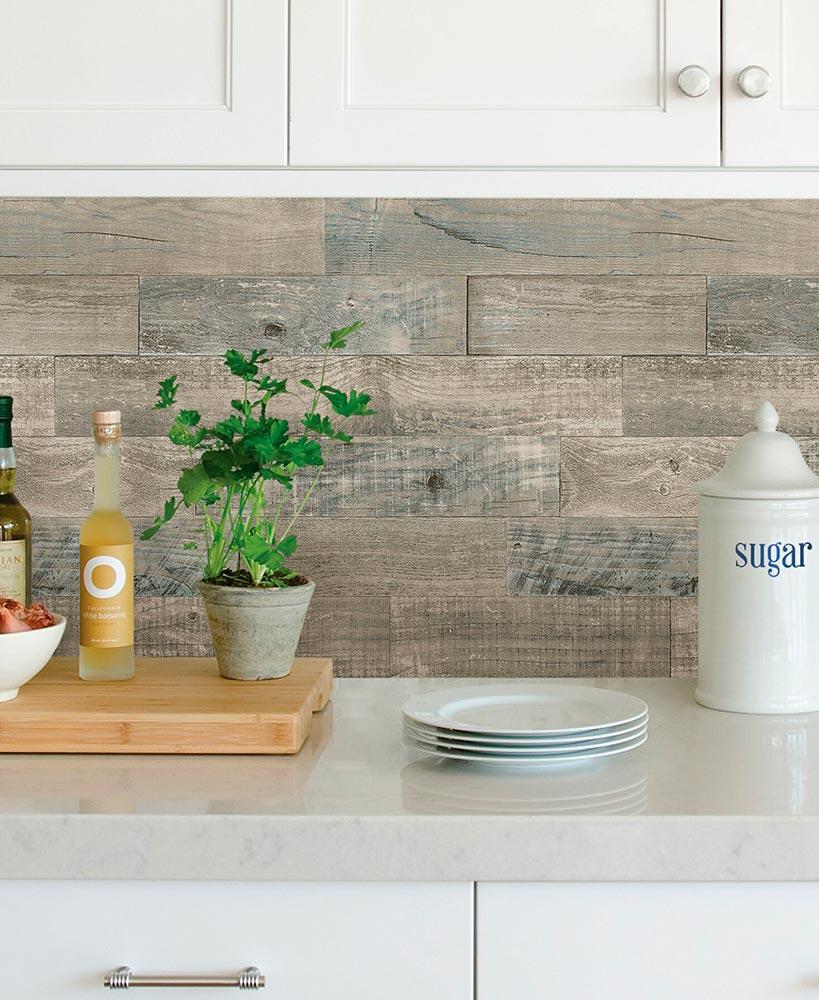 Brewster Peel And Stick Backsplash In 2020 Backsplash Wood Backsplash Cool Kitchens