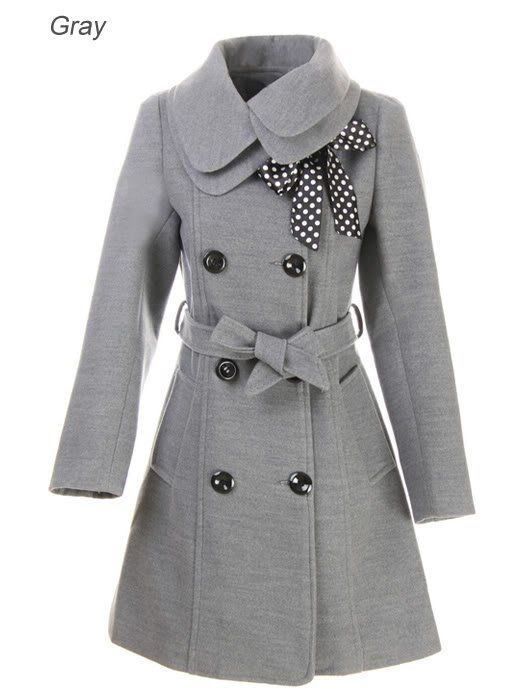 US Women Winter Warm Slim Coat Double Breasted Wool Trench Coat Jacket Outerwear