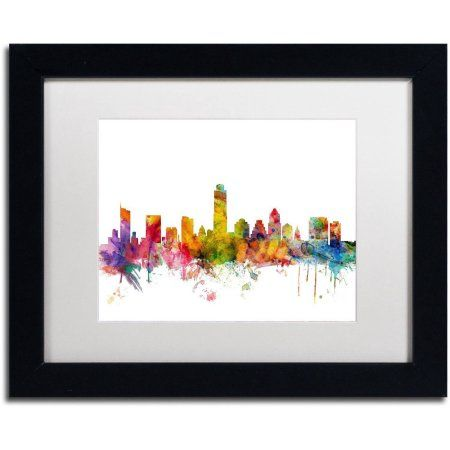 Trademark Fine Art \'Austin Texas Skyline\' Canvas Art by Michael ...