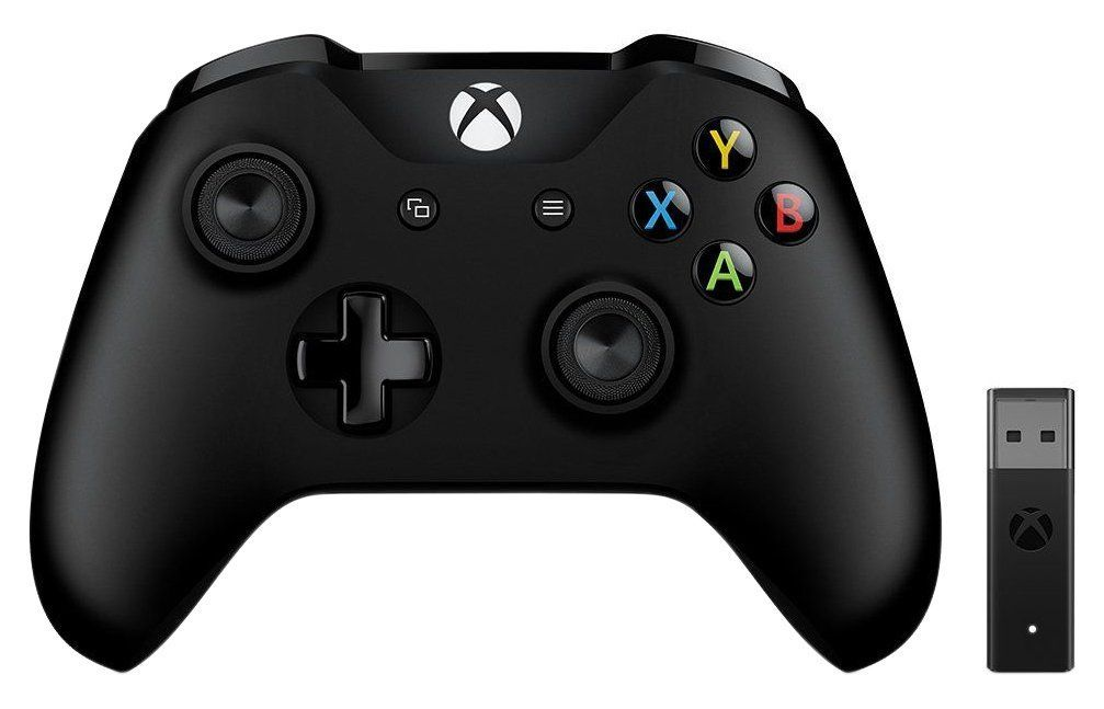 Xbox Controle Xbox Controller With Wireless Adaptor Black In 2020 Xbox Controller Xbox One Controller Xbox Wireless Controller