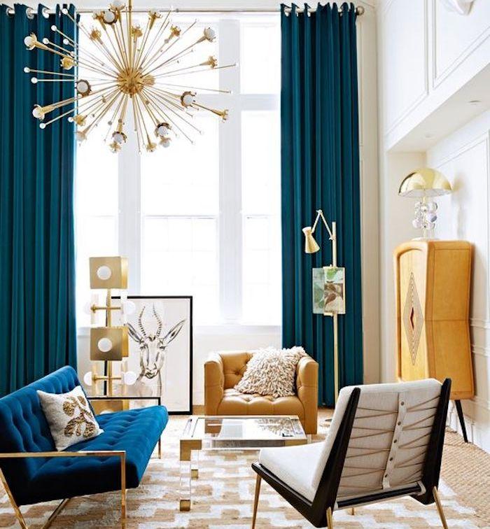 Decoration Salon Canape Bleu Marine